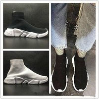 Wholesale toe sports socks - 2018 frist quality Speed sock high quality Speed Trainer running shoes for men and women sports shoes Speed stretch-knit Mid sneakers ,5-11