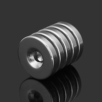 Wholesale Magnets Mm - 5pcs N35 Strong Disc Neodymium Magnets 25mm x 5 mm Round NdFeB Magnets With 6mm Hole