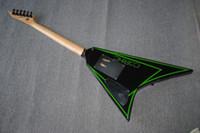 Wholesale musical ebony fingerboard resale online - Factory custom flying V electric guitar strings guitars with ebony fingerboard musical instrument shop