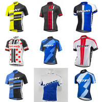 Wholesale giant shirts - GIANT team Cycling Short Sleeves jersey Mtb Bike Clothing Bicycle Short Sleeves shirts Maillot Ciclismo Sportswear D214