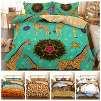 Wholesale bedding sets pieces online - 5styles Animal Elephant Giraffe Kids Bedding Set Duvet Cover Quilt Cover Pillowcase Bedding Supplies set FFA679