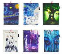 Wholesale smart card wallet resale online - Cartoon Forest Wallet Leather Case For Ipad Air th th Pro Mini Tablet Smart Wake Up Sky Painting Cards Cover