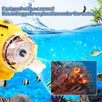 Wholesale toy submarines rc - Damage Compensation Remote Control Infrared RC Submarine with 0.3MP Camera and Light RC Toy for Kids Camera Submarine Gift