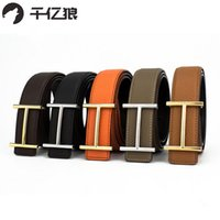 Wholesale vintage leather jeans belt mens for sale - High Quality Mens Leather H Belts Smooth Buckle Belts Woem Litchi Grain Leather Belt With Casual Jeans Vintage Women Belt With
