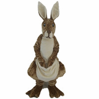 trajes de mascote de canguru venda por atacado-2016 NOVO EVA cabeça Adulto canguru australiano traje da mascote traje canguru para venda apenas como a imagem