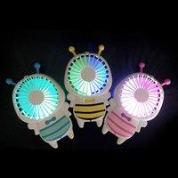 arılar evler toptan satış-DHL Handy USB şarj Fan Mini Arı Kolu Şarj Elektrik Hayranları Ince El Taşınabilir Ofis Ofis Için Aydınlık Gece Lambası Hediyeler 3 renkler