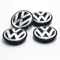 Wholesale wheel cars for sale online - 2018 Hot Sale mm Car Wheel Cover Badge Wheel Hub VW Center Caps Emblem For VW TOUARET