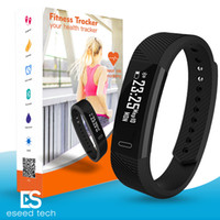 Wholesale wristband bracelets - ID115 F0 Smart Bracelets Fitness Tracker Step Counter Activity Monitor Band Alarm Clock Vibration Wristband for iphone Android phone