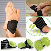 cojines para los pies al por mayor-Arco amortiguado Strutz Soporte para el talón del pie Disminución de la fascitis plantar Alivio del dolor Almohadillas de la plantilla Tratamiento del pie con amortiguador AAA435