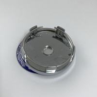 ingrosso coprimozzo centrale benz-60 millimetri 5pin cromo base blu mozzo del centro di rotella Cap adesivo Orli dell'automobile Emblema UN02 per benz per Universal Rim