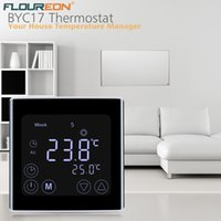 Wholesale room thermostat controller for sale - Group buy Floureon Weekly Programmable Underfloor Heating Thermostat LCD Touch Screen Room Temperature Controller Touch HeatingThermostat