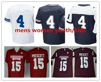 Wholesale Best Youth Jerseys - NCAA College Football jerseys Mississippi State Bulldogs shirts dak mens women youth kids Red white prescott blue Best Quality Stitched sale