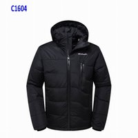 Wholesale reversible down jacket - High Quality Columbia Winter Down Hooded Jackets Bomber Collar With Zippers Jacket Real Fur Parkas Men Warm Coat Outdoor Coats Parka Plus