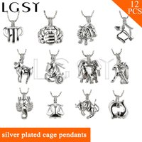 Wholesale gift packs for men - Mix 12 Constellation Collection 18K Silver Plated Cage Pendants for Women, for Men, for Girls, Pack of 12, New Arrivals & Free Shipping