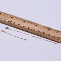 ingrosso collana della catena dell'oro di 18k-Collana a catena in oro 18 carati Pure Collana in oro giallo adatta a catenine a pendente