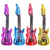 şişirilebilir tezahürat balonları toptan satış-20 adet / grup Gitar Tasarım Karikatür Balon Şişme Helyum Balonlar Cheer Stick Clapper Çocuk Clssit Oyuncaklar # RGXC346