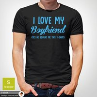 T-shirts Lgbt T-shirt i Love Heart My Boyfriend Men Guy Gay Pride Valentines Gift Luka Hrvatska Croatia Modric France Streetwear Hip