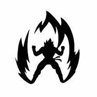 ingrosso ce palla-Decalcomania del vinile dell'auto del computer portatile di GOKU SAIYAN ANIME di alta qualità della sfera del dragom di alta qualità CA-360