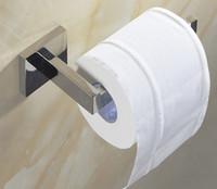 zeitgenössisches badezimmerzubehör großhandel-304 Edelstahl Toilettenpapierhalter Bad WC Halter für Rollenpapier Handtuch Platz Badezimmer Zubehör