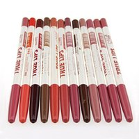 ingrosso migliori matite per labbra-Hot Best 12 Pz Waterproof Lip Liner Matita Long Lasting Lipliner Strumento di trucco professionale