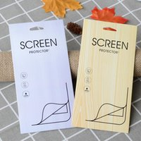 iphone screen protector tempered glass box 2018 - Wood Grain Paper Retail Package Pack Box for Tempered Glass Screen Protector for iphone X 7 8 Plus Samsung Galaxy S8 S9 Plus