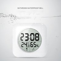 Wholesale sticker shower - White LCD NEW Waterproof Shower Wall Clocks Kitchen Stickers Home Decor Bedroom Decoration Wall Mirror wallpaper Household Craft Suppiles