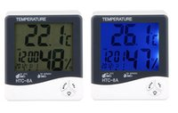 Wholesale digital thermometers for indoors for sale - Group buy Digital Thermo hygrometer Alarm Clock Date Household Indoor Thermometer Hygrometer Tester with LCD Backlight For HTC A in retail package