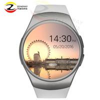 equipo de seguimiento al por mayor-KW18 smart watch pantalla completa Soporte SIM TFCard Smartwatch Teléfono frecuencia cardíaca para Gear S2 huawei Tracker reloj