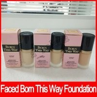 Wholesale Foundation Coverage - 2017 NEW Arrival Faced Makeup Born This Way COVERAGE Foundation Liquid 3 colors Long Lasting Foundation