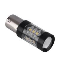 luz de marcha atrás led 24v al por mayor-1156 1157 80W Camper Trailer Luz LED 12-24V Respaldo de respaldo de alta calidad para automóvil Luz de señal inversa Canbus Car-Styling