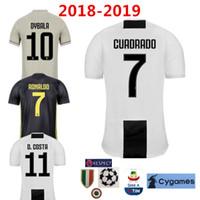 7 RONALDO DYBALA D.COSTA Soccer Jersey 18 19 home black White Away Third  gray Shirt juventus Uniforms fans player version Champions League 56696c187