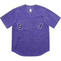 camiseta de verano negro blanco al por mayor-18SS B0x Logo Corduroy Baseball Wear manga corta hombres y mujeres Cómodo blanco y negro Summer S ~ XL camiseta HFBYTX171