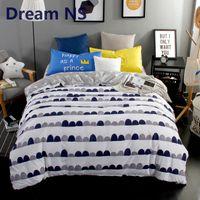 conjuntos de cama de rainha única venda por atacado-AHSNME Simples camas modernas conjunto branco preto edredon cobrir Único Pillowcase Plano Lençol 4pcs Rei Queen Size Roupa de cama