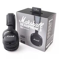 bas paketi toptan satış-Marshall MID Mic Ile Bluetooth Kulaklıklar Derin Bas DJ Hi-Fi Kulaklık Perakende Paketi Ile Profesyonel Marshall Kablosuz Kulaklıklar