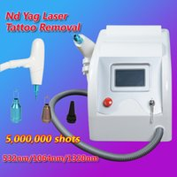 Wholesale professional treatments - q switch nd yag laser tattoo removal system black doll treatment Professional machine used spa Beauty Equipment