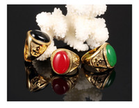 Wholesale brass ring price for sale - Group buy The clearance sale price ring K gold plated colorful Agate for women and men size6