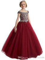 kız diz uzunluğu pembe elbiseler toptan satış-Fantezi Allık Pembe Communion Çiçek Kız Elbise Aplikler Yarım Kollu Diz Boyu Kızlar Pageant Noel için Şerit Yaylar