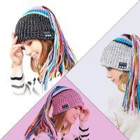 Wholesale hand knitted women hat for sale - Group buy Wireless Bluetooth Smart Beanie Hat Musical Headphone Speaker Women Tassel Knitted Hat Microphone Hands Free Earphone Caps Warm MMA773