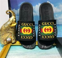 Wholesale beach sellers - hot seller new flower High quality men's designer slippers clip feet flip style European Tiger lines style Shoes luxury brand sandals