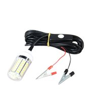 lámparas de pesca submarina al por mayor-Impermeable Lure Fish Lamp Al aire libre Pesca Submarina Luz de la Luz Reflector 12V 108Leds noche Fish Finder Accesorios de Alta Calidad 35jd Ww