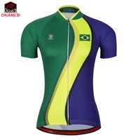 Wholesale Road Bike Clothing Women - Brazil Women Summer Outdoor Cycling Bicycle Jersey Clothing MTB Mountain Road Bike Quick Dry Tops Breathable Short Sleeve Shirt