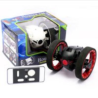 robot de control remoto de coches juguetes al por mayor-RC Car Bounce Car PEG SJ88 2.4G Control remoto juguetes saltar con ruedas flexibles Rotación LED Night Lights RC Robot regalo