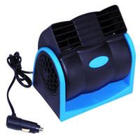 Wholesale 12v fan car - Car Vehicle Truck Cooling Air Fan 12V Adjustable Silent Cooler Speed Car Auto Cooling Fan For Summer ME3L