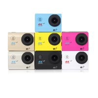 Wholesale yellow waterproof camera hd resale online - Sports cameras Remote H16R degree wide angle lens inch HD LCD sports DV Full HD P m waterproof outdoor action video camera