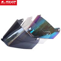 Wholesale ls2 helmets blue - LS2 MX436 Full face motocross helmet visor lens for LS2 MX436 motorcycle helmets Face shield rainbow black clear glasses