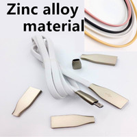 Wholesale rose connector - Micro USB Cables 1M 3ft 2.1A Fast Charger Zinc Alloy Metal Connector USB 2.0 Sync Data Cable for Android And Phone