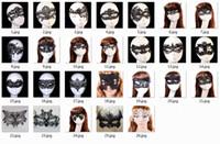halloween medio cara encaje al por mayor-20 unids Sexy Encaje Encantador de Halloween máscaras de disfraces Máscaras del partido Venetian Party Half Face Mask Para Navidad con paquete opp