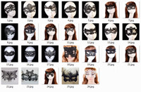 Wholesale mask packaging for sale - 20pcs Sexy Lovely Lace Halloween masquerade masks Party Masks Venetian Party Half Face Mask For Christmas with opp package