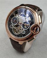 топ бренд водонепроницаемые часы мужчины оптовых-2019 новые мужские часы топ бренд роскошные спортивные часы Кожаный ремешок механические часы мужчины водонепроницаемый наручные часы высокого качества relogio masculino