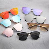 mujer gato ojos gafas de sol al por mayor-Lentes de Sol Marca populares para Hombres Mujeres Casual ciclo al aire libre gafas de sol del siameses de Spike Gafas de sol del ojo de gato de calidad 3576